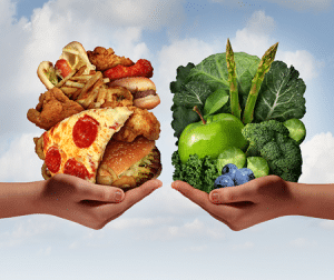 What differentiates healthy food from unhealthy food? 2