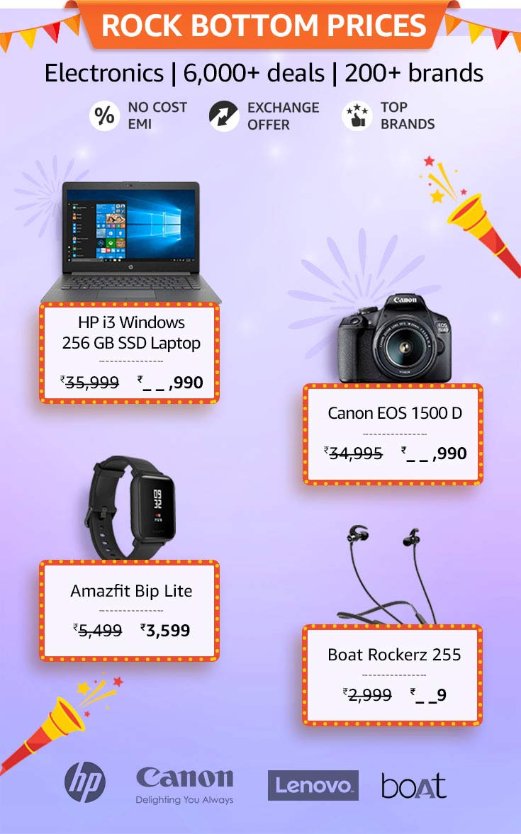 amazon great indian sale for computers and electronics 2019